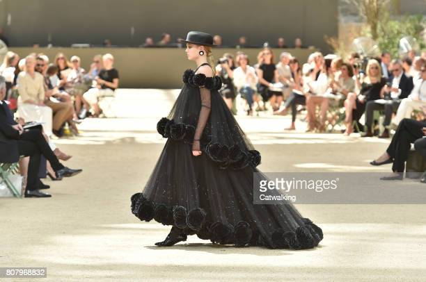 A model walks the runway at the Chanel Autumn Winter 2017 fashion show during Paris Haute Couture Fashion Week on July 4 2017 in Paris France