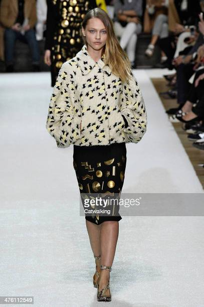 A model walks the runway at the Chloe Autumn Winter 2014 fashion show during Paris Fashion Week on March 2 2014 in Paris France