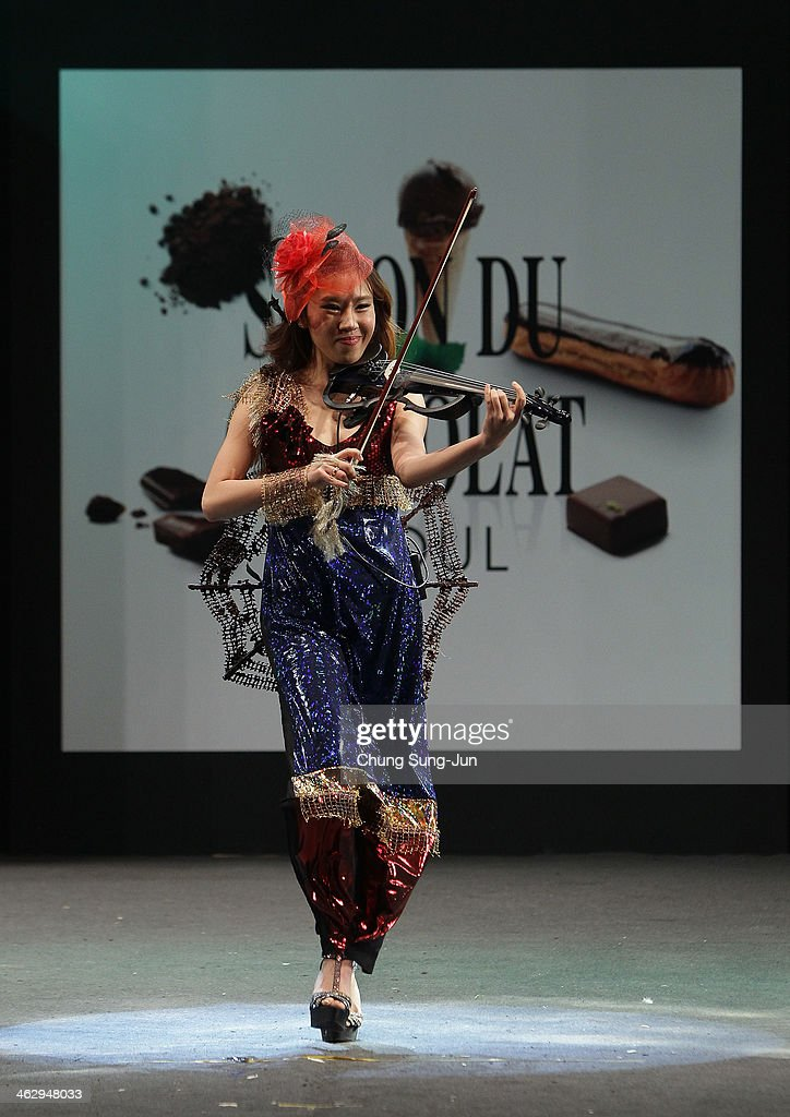A model walks the runway at the Chocolate Fashion Show during the Salon Du Chocolat 2014 at COEX Hall on January 16, 2014 in Seoul, South Korea.