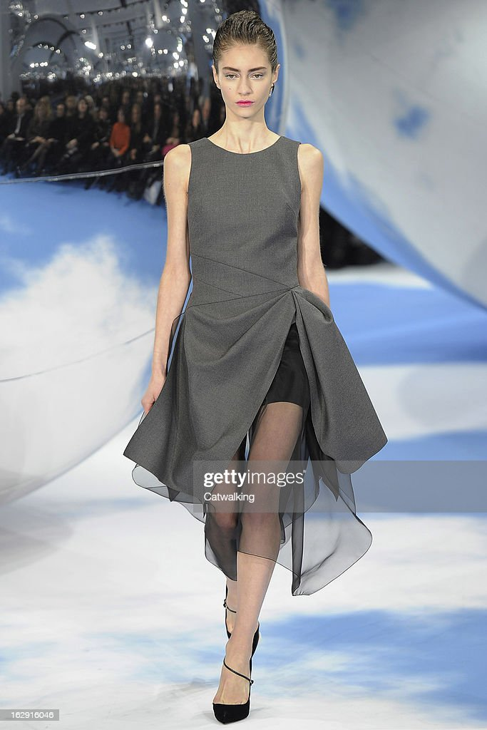 A model walks the runway at the Christian Dior Autumn Winter 2013 fashion show during Paris Fashion Week on March 1, 2013 in Paris, France.