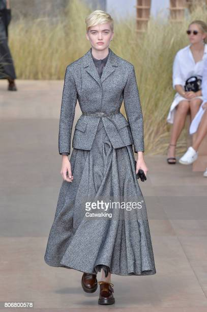 A model walks the runway at the Christian Dior Autumn Winter 2017 fashion show during Paris Haute Couture Fashion Week on July 3 2017 in Paris France