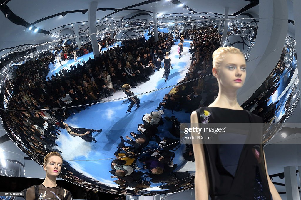 A model walks the runway at the Christian Dior Fall/Winter 2013 Ready-to-Wear show as part of Paris Fashion Week on March 1, 2013 in Paris, France.