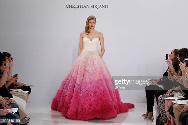 A model walks the runway at the Christian Siriano For Kleinfeld Spring/Summer 2017 Bridal Collection at Kleinfeld on April 18 2016 in New York City