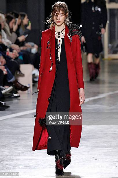 A model walks the runway at the Christopher Kane fashion show during London Fashion Week Autumn/Winter 2016/2017 on February 22 2016 in London England