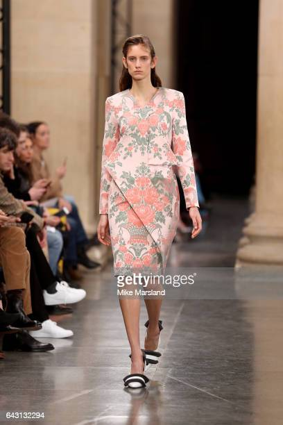 A model walks the runway at the Christopher Kane show during the London Fashion Week February 2017 collections on February 20 2017 in London England