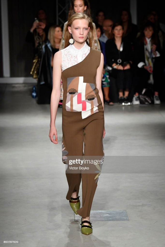 model-walks-the-runway-at-the-cividini-show-during-milan-fashion-week-picture-id852297520