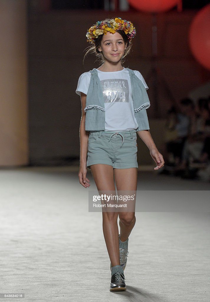A model walks the runway at the CND By Condor show during the Barcelona 080 Fashion Week Spring/Summer 2017 at the INFEC on June 29, 2016 in Barcelona, Spain.