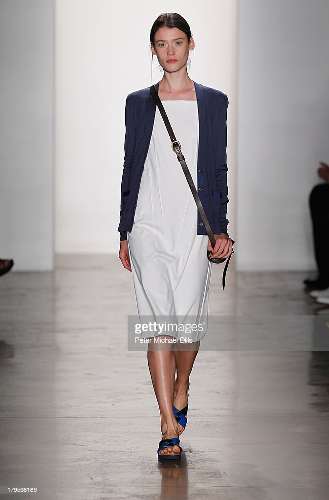 A model walks the runway at the Costello Tagliapietra fashion show during MADE Fashion Week Spring 2014 at Milk Studios on September 5, 2013 in New York City.