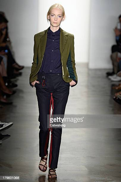 A model walks the runway at the Costello Tagliapietra Spring Summer 2014 fashion show during New York Fashion Week on September 5 2013 in New York...