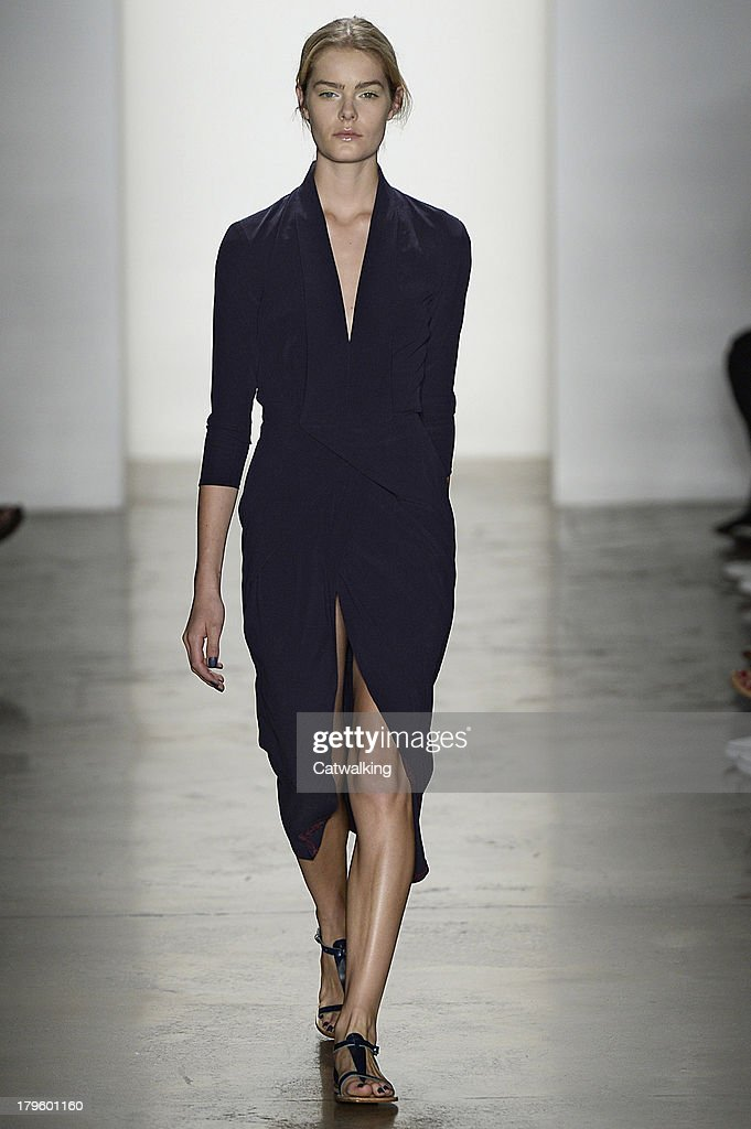 A model walks the runway at the Costello Tagliapietra Spring Summer 2014 fashion show during New York Fashion Week on September 5, 2013 in New York, United States.