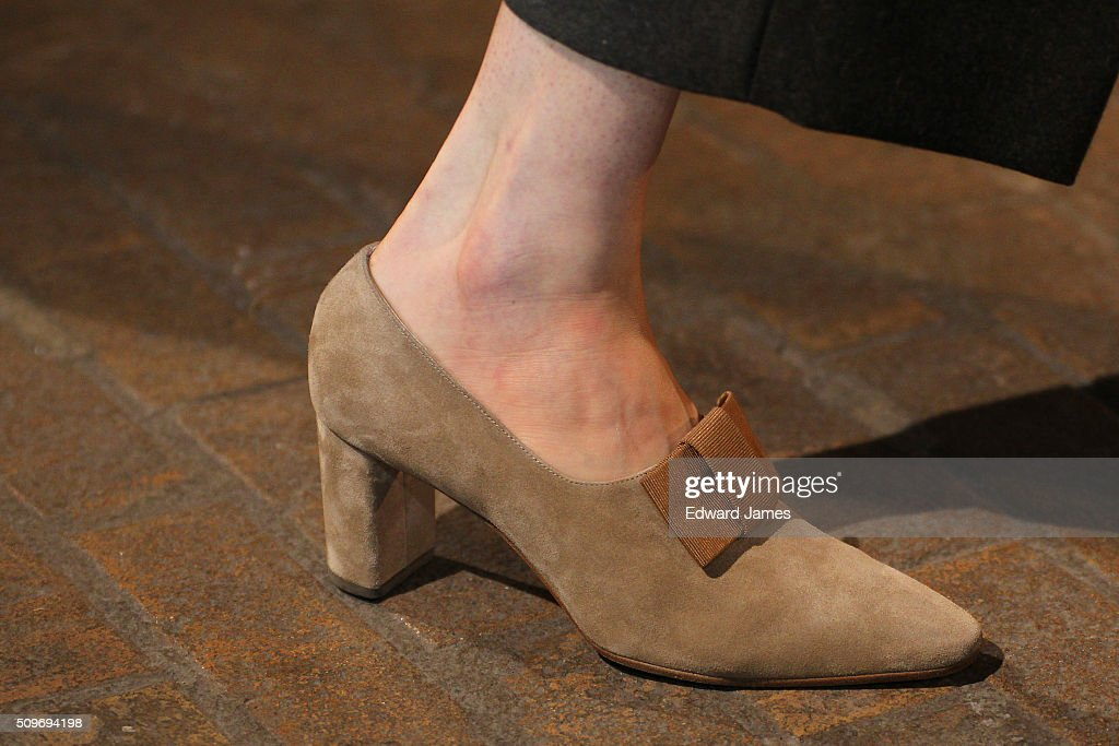 A model walks the runway at the Creatures of Comfort fashion show at 441 West 14th Street on February 11, 2016 in New York City.