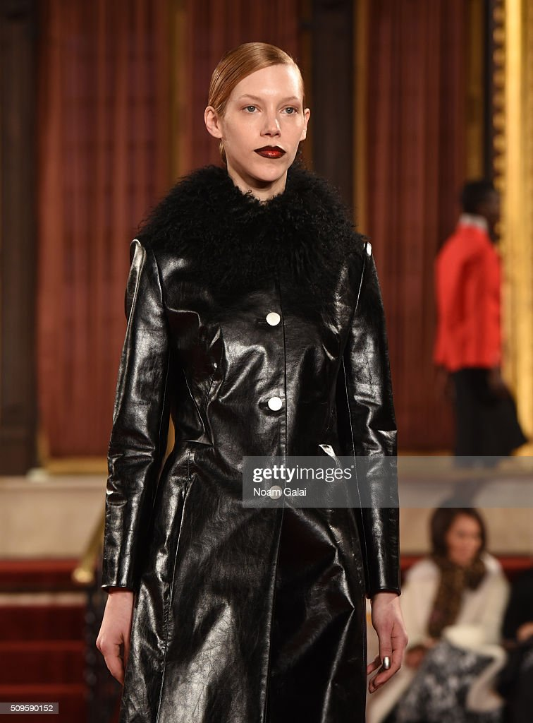 A model walks the runway at the Creatures of the Wind fashion show during Fall 2016 New York Fashion Week on February 11, 2016 in New York City.