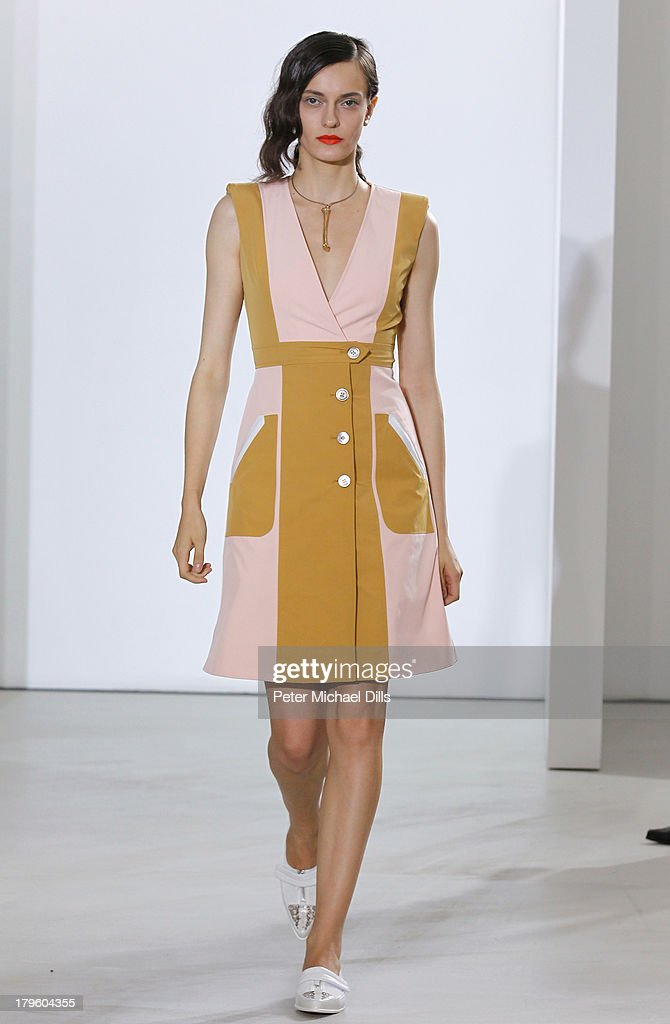 A model walks the runway at the Creatures Of The Wind Spring 2014 fashion show during Mercedes-Benz Fashion Week at Pace Gallery Downtown on September 5, 2013 in New York City.