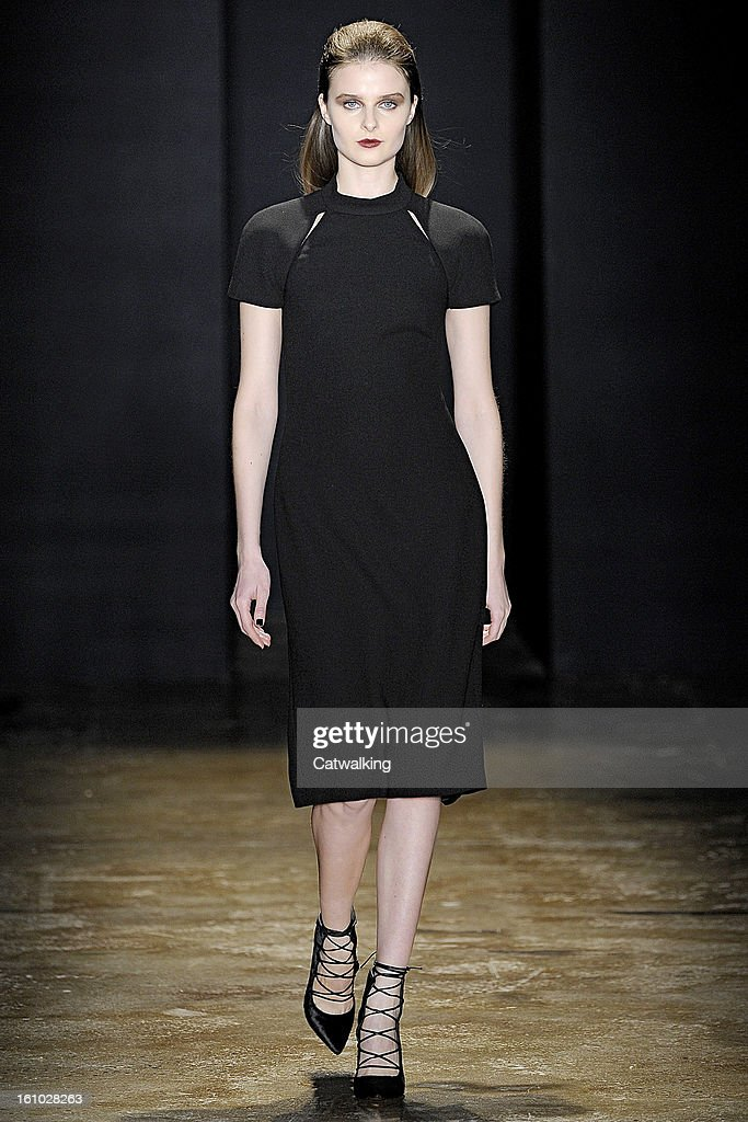A model walks the runway at the Cushnie et Ochs Autumn Winter 2013 fashion show during New York Fashion Week on February 8, 2013 in New York, United States.