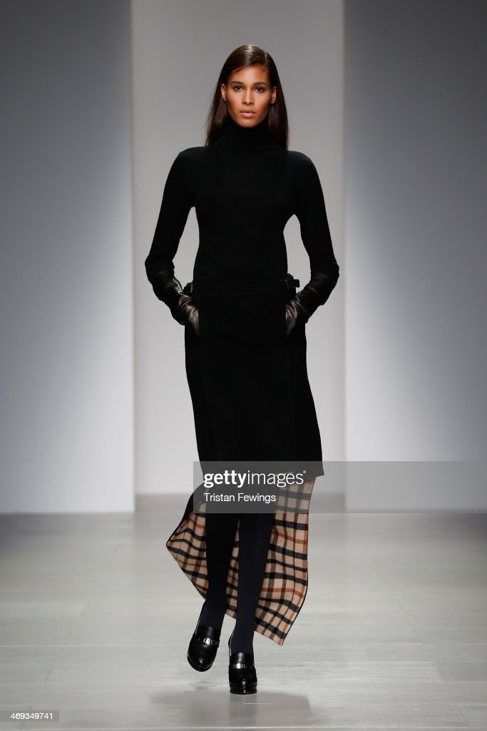 A model walks the runway at the DAKS show at London Fashion Week AW14 at Somerset House on February 14, 2014 in London, England.