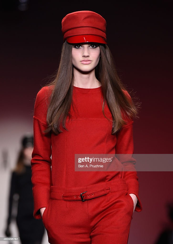 A model walks the runway at the DAKS show during London Fashion Week Fall/Winter 2015/16 at Somerset House on February 20 2015 in London England