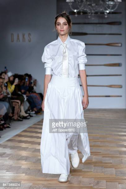 A model walks the runway at the DAKS show during London Fashion Week September 2017 on September 15 2017 in London England