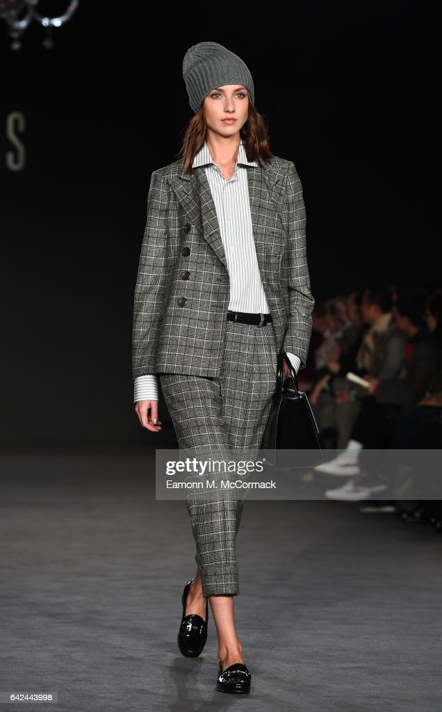 model-walks-the-runway-at-the-daks-show-during-the-london-fashion-picture-id642443998