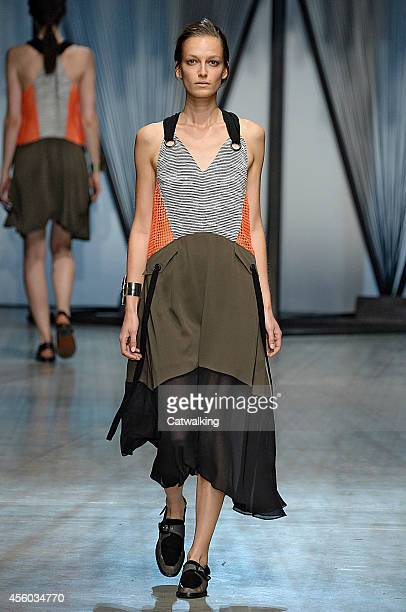 A model walks the runway at the Damir Doma Spring Summer 2015 fashion show during Paris Fashion Week on September 24 2014 in Paris France