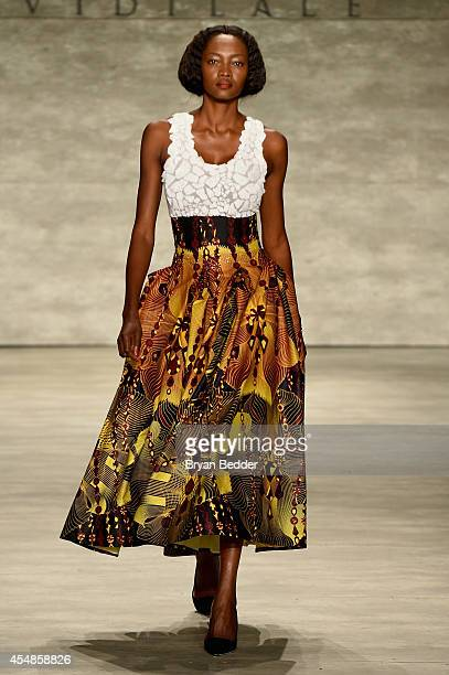 A model walks the runway at the David Tlale fashion show during MercedesBenz Fashion Week Spring 2015 at The Pavilion at Lincoln Center on September...