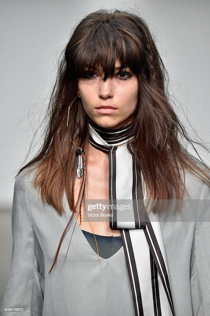 A model walks the runway at the Dawid Tomaszewski show during the Mercedes-Benz Fashion Week Berlin Spring/Summer 2017 at Stage at me Collectors Room on June 28, 2016 in Berlin, Germany.