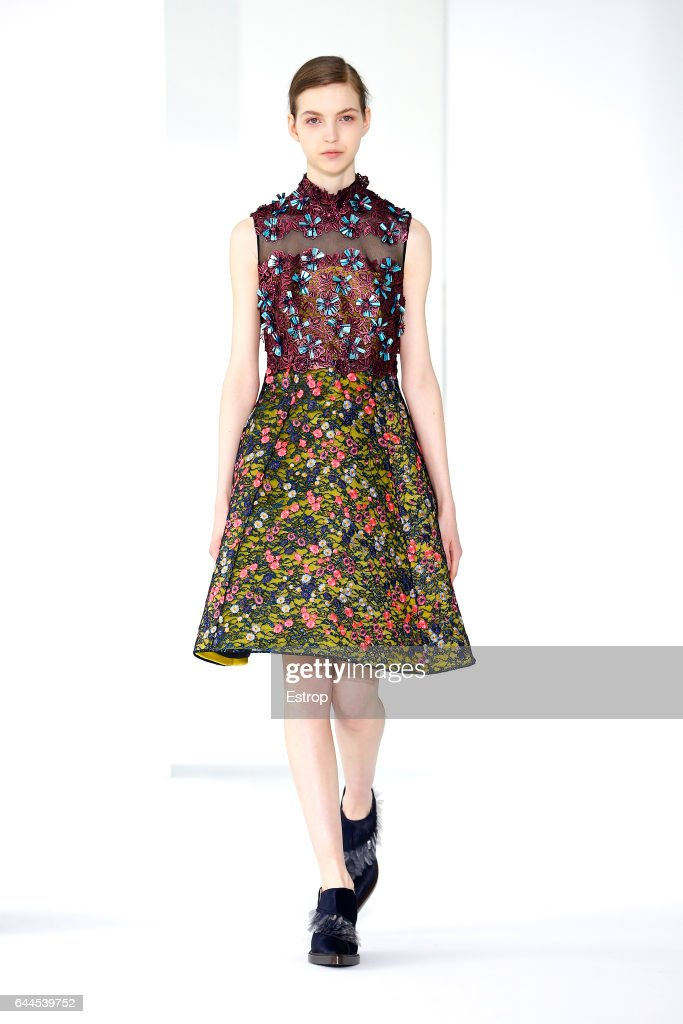 a model walks the runway at the delpozo designed by josep font show during the new