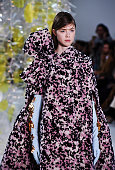 A model walks the runway at the Delpozo during Fall 2016 New York Fashion Week at Pier 59 Studios on February 17 2016 in New York City