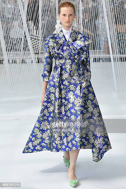A model walks the runway at the Delpozo Ready to Wear Spring Summer 2017 during New York Fashion Week September 2016 on September 14 2016 in New York...