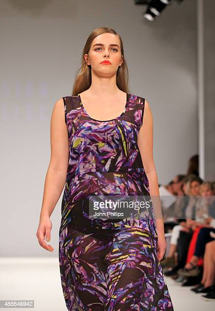 A model walks the runway at The Design Collective For Evans show during London Fashion Week Spring Summer 2015 at Fashion Scout Venue on September 16...