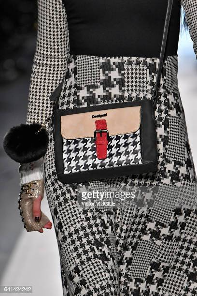 A model walks the runway at the Desigual show New York Fashion Week Fall Winter 20172018 on February 9 2017 in New York City