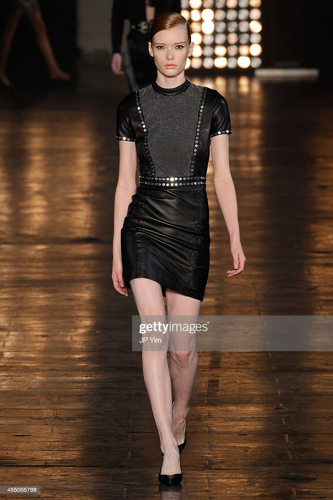 A model walks the runway at the Diesel Black Gold Spring 2015 Collection at Skylight at Moynihan Station on September 9 2014 in New York City