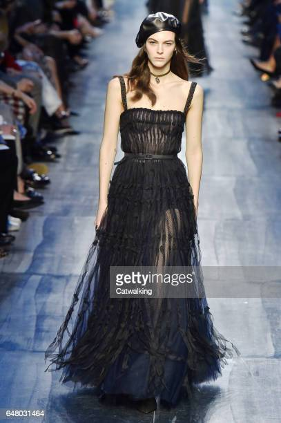 A model walks the runway at the Dior Autumn Winter 2017 fashion show during Paris Fashion Week on March 3 2017 in Paris France