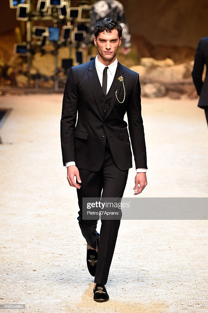 dolce gabbana winter 2016 mens fashion show milan