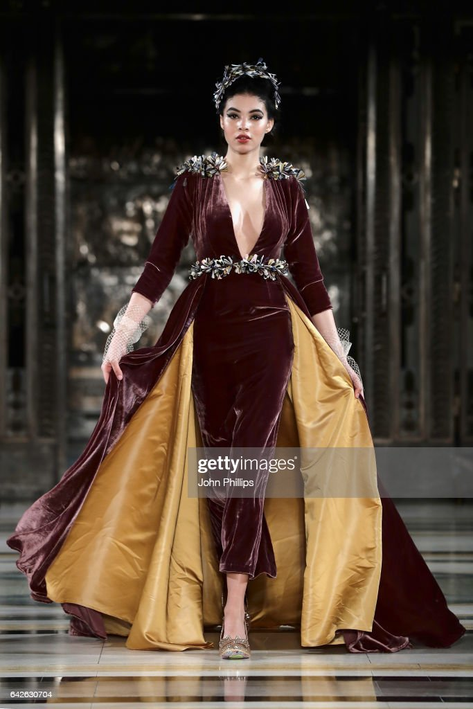 model-walks-the-runway-at-the-dubai-design-fashion-council-show-at-picture-id642630704