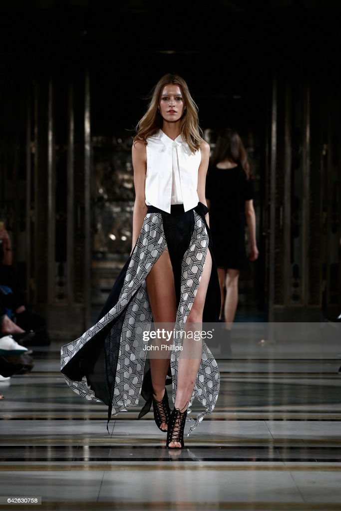 model-walks-the-runway-at-the-dubai-design-fashion-council-show-at-picture-id642630758