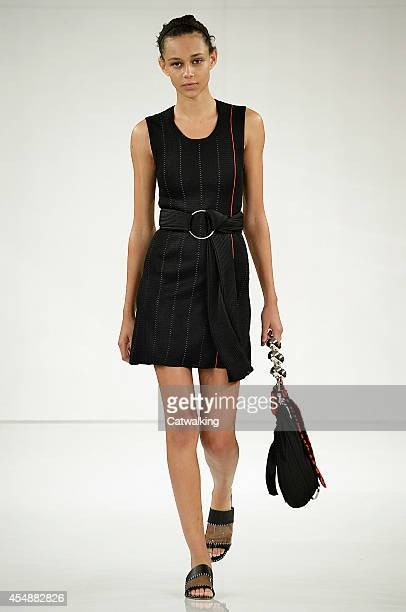 A model walks the runway at the Edun Spring Summer 2015 fashion show during New York Fashion Week on September 7 2014 in New York United States