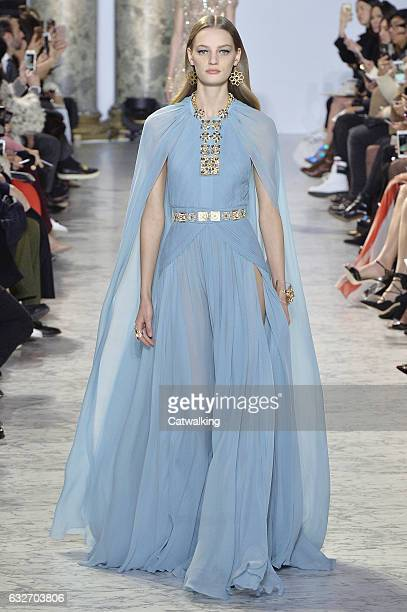 A model walks the runway at the Elie Saab Spring Summer 2017 fashion show during Paris Haute Couture Fashion Week on January 25 2017 in Paris France