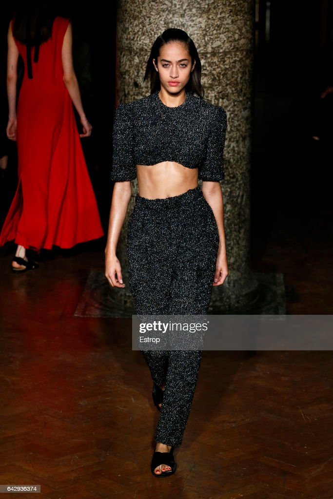 model-walks-the-runway-at-the-emilia-wickstead-show-during-the-london-picture-id642936374