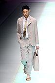 Emporio Armani - Runway - Milan Fashion Week - Spring /...