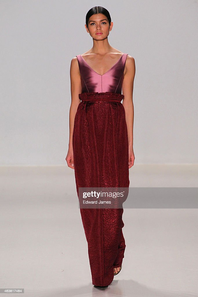 A model walks the runway at the Erin Fetherston fashion show during MercedesBenz Fashion Week Fall 2015 at The Salon at Lincoln Center on February 18...