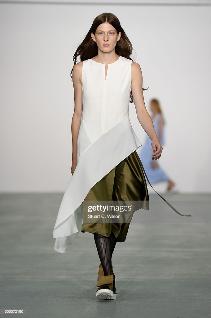 model-walks-the-runway-at-the-eudon-choi-show-during-london-fashion-picture-id606072190