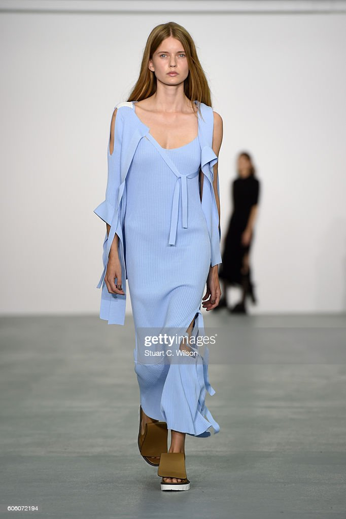 model-walks-the-runway-at-the-eudon-choi-show-during-london-fashion-picture-id606072194