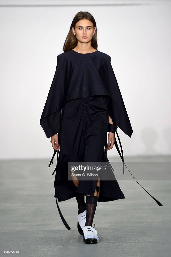 model-walks-the-runway-at-the-eudon-choi-show-during-london-fashion-picture-id606072212