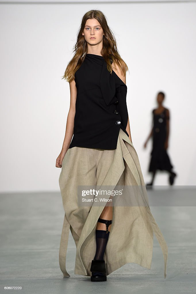 model-walks-the-runway-at-the-eudon-choi-show-during-london-fashion-picture-id606072220