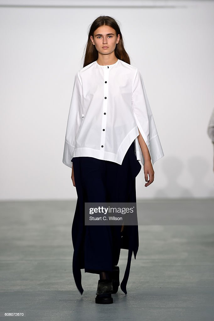 model-walks-the-runway-at-the-eudon-choi-show-during-london-fashion-picture-id606072670