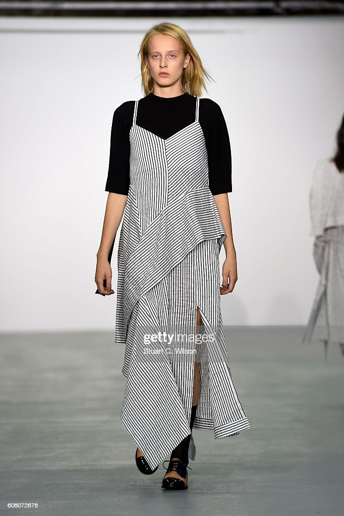 model-walks-the-runway-at-the-eudon-choi-show-during-london-fashion-picture-id606072676