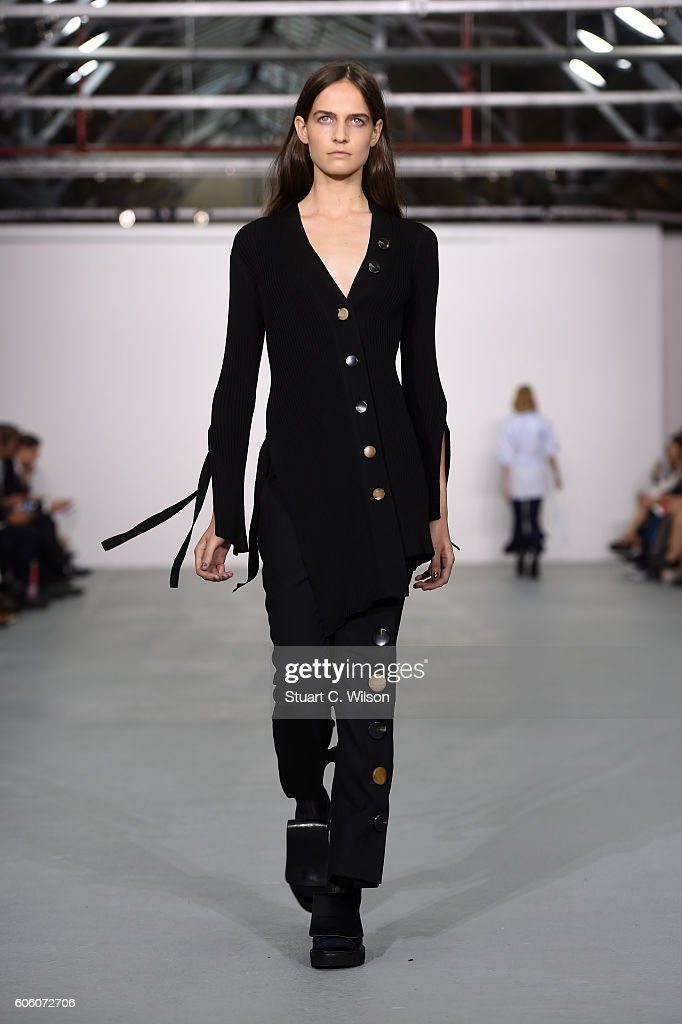 model-walks-the-runway-at-the-eudon-choi-show-during-london-fashion-picture-id606072706
