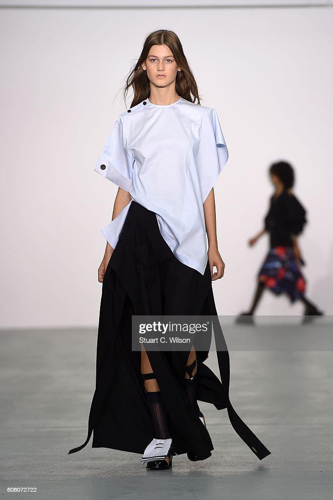 model-walks-the-runway-at-the-eudon-choi-show-during-london-fashion-picture-id606072722
