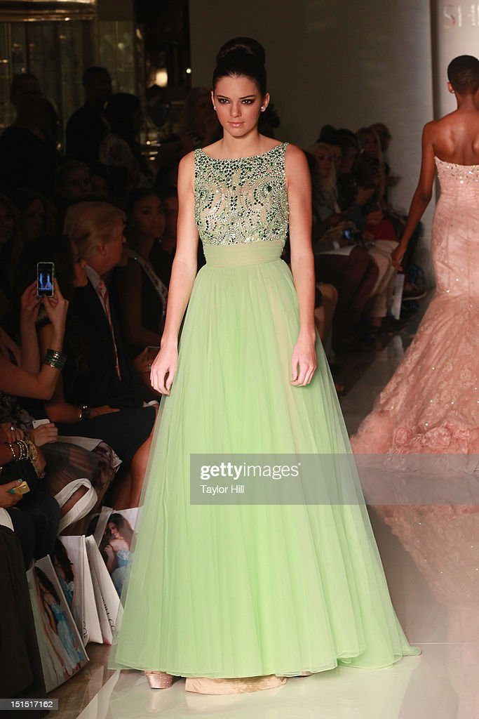 A model walks the runway at the Evening Sherri Hill spring 2013 fashion show during Mercedes-Benz Fashion Week at Trump Tower Grand Corridor on September 7, 2012 in New York City.
