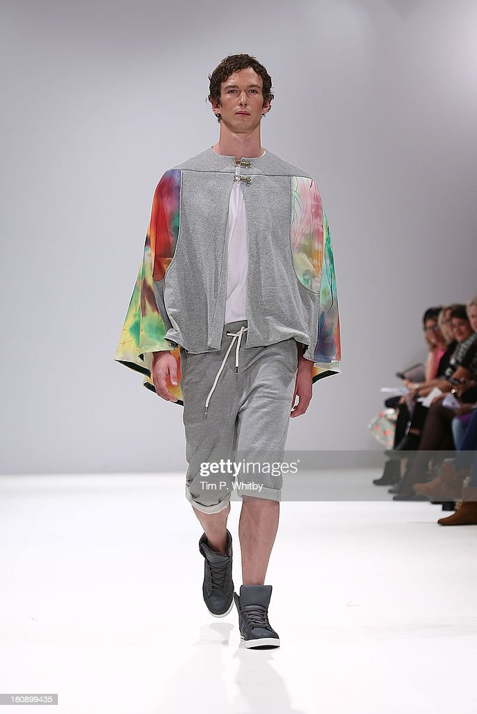 A model walks the runway at the FAD show at the Fashion Scout Venue during London Fashion Week SS14 at Freemasons Hall on September 17, 2013 in London, England.